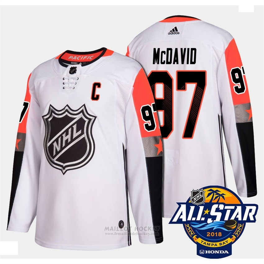 Maillot Edmonton Oilers 97 Connor Mcdavid Blanc 2018 All Star Authentique