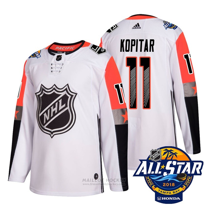 Maillot Los Angeles Kings 11 Anze Kopitar Blanc 2018 All Star Authentique