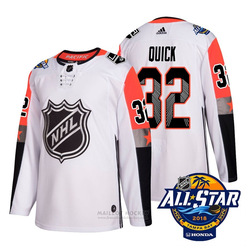 Maillot Los Angeles Kings 32 Jonathan Quick Blanc 2018 All Star Authentique