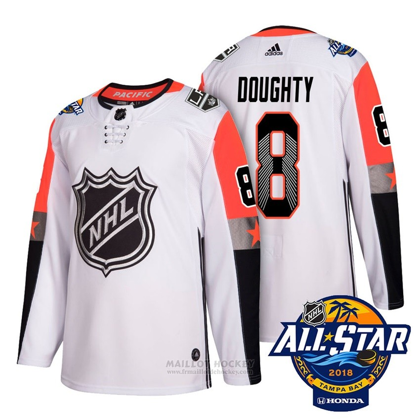 Maillot Los Angeles Kings 8 Drew Doughty Blanc 2018 All Star Authentique