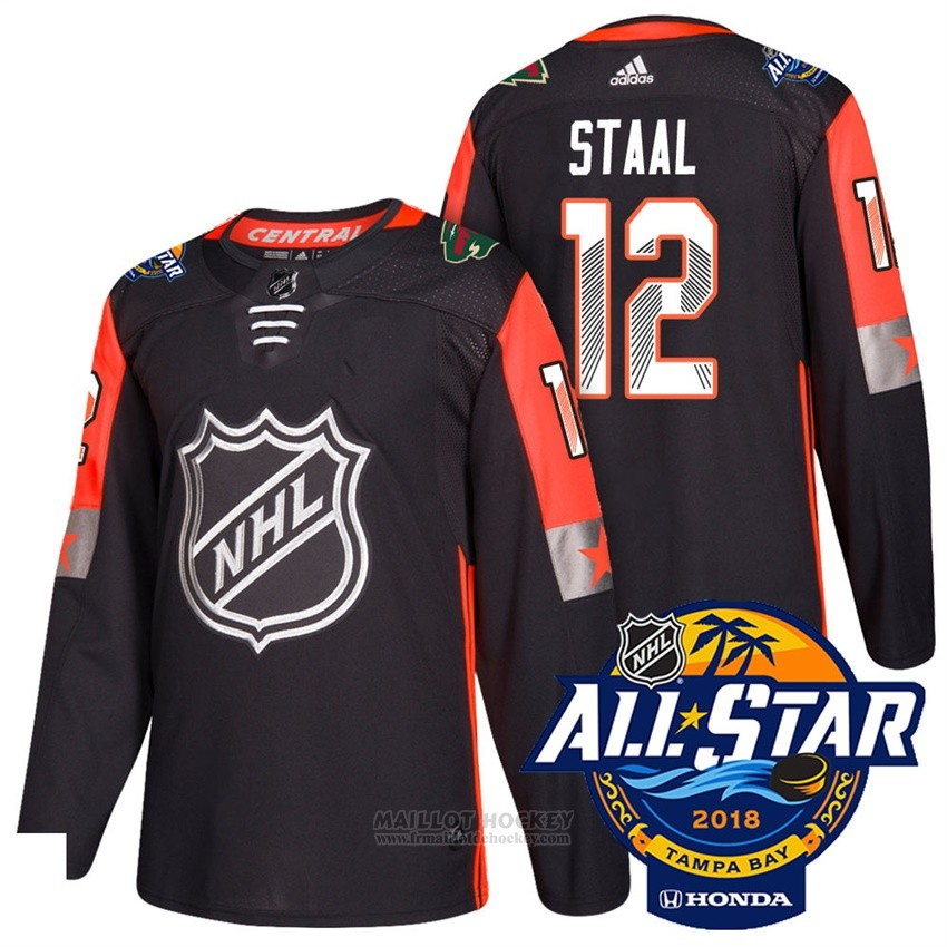 Maillot Minnesota Wild 12 Eric Staal Noir 2018 All Star Authentique