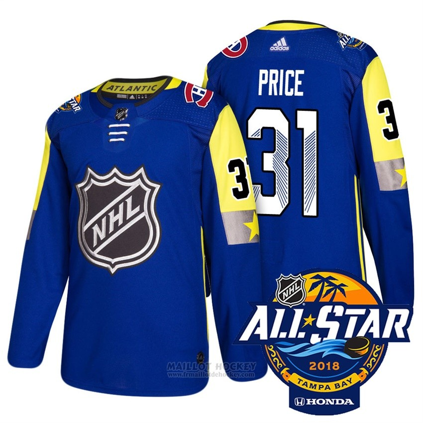 Maillot Montreal Canadiens 31 Carey Price Bleu 2018 All Star Authentique