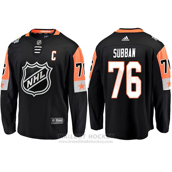 Maillot Montreal Canadiens 76 Subban 2018 All Star Noir Captain