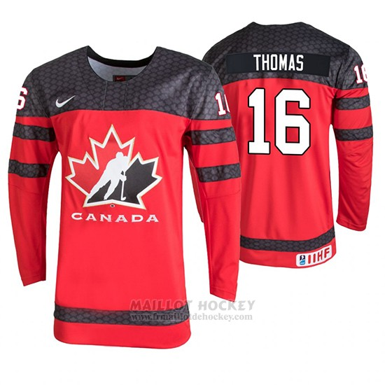 Maillot Canada Akil Thomas 2020 IIHF World Junior Championship Rouge