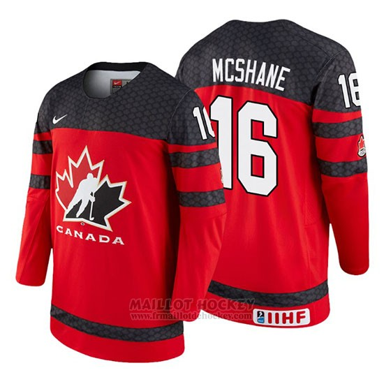 Maillot Canada Allan Mcshane 2018 IIHF World Championship Joueur Rouge