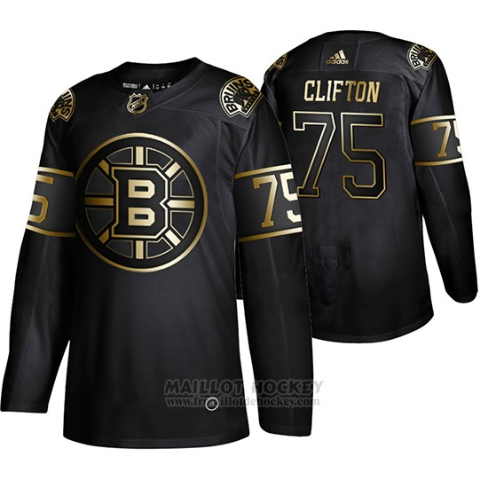 Maillot Boston Bruins Connor Clifton Golden Edition Authentique Noir