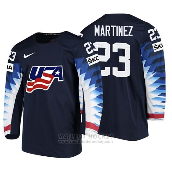 Maillot USA Alec Martinez 2018 IIHF Men World Championship Joueur Noir