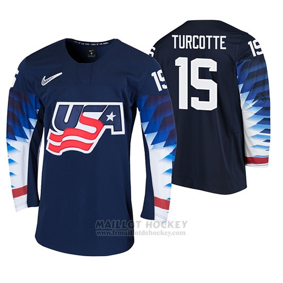 Maillot USA Alex Turcotte 2020 IIHF World Junior Championship Noir