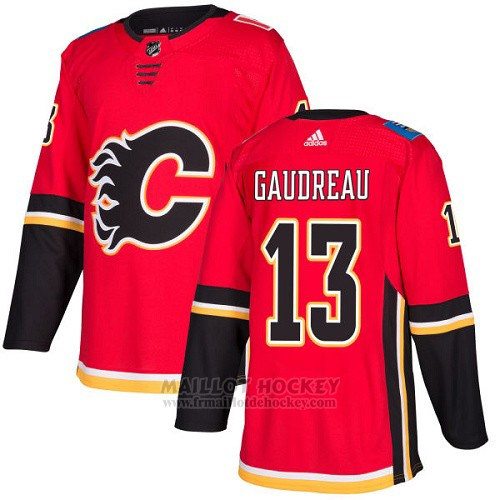 Maillot Enfant Calgary Flames 13 Johnny Gaudreau Rouge Home Authentique Stitched