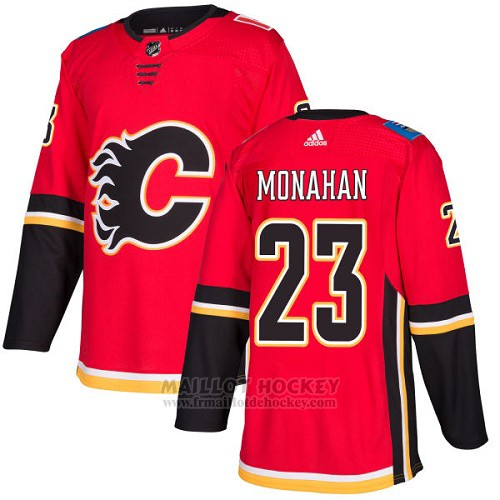 Maillot Enfant Calgary Flames 23 Sean Monahan Rouge Home Authentique Stitched