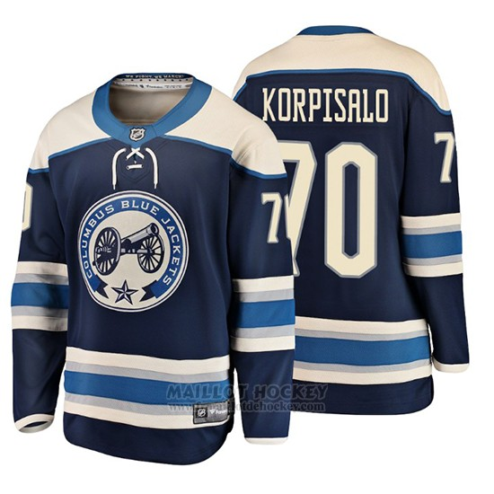 Maillot Enfant Columbus Blue Jackets Joonas Korpisalo 2019 Alternato Fanatics Breakaway Bleu
