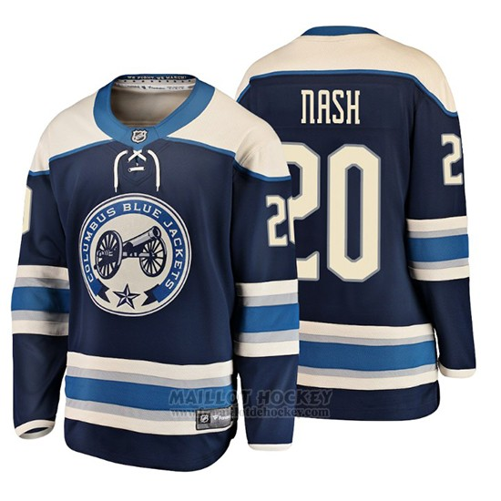 Maillot Enfant Columbus Blue Jackets Riley Nash 2019 Alternato Breakaway Bleu