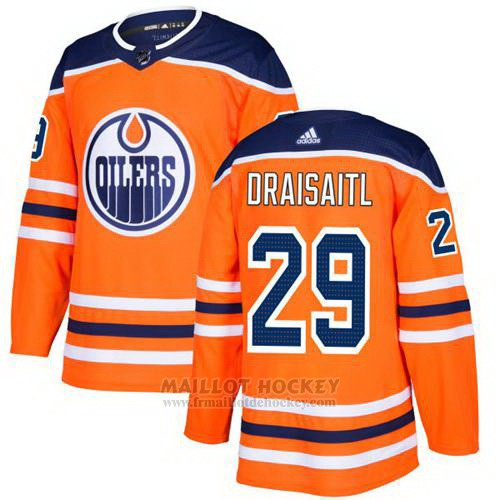 Maillot Enfant Edmonton Oilers 29 Leon Draisaitl Orange Home Authentique Stitched