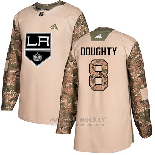 Maillot Enfant Los Angeles Kings 8 Drew Doughty Camo Authentique 2017 Veterans Day Stitched