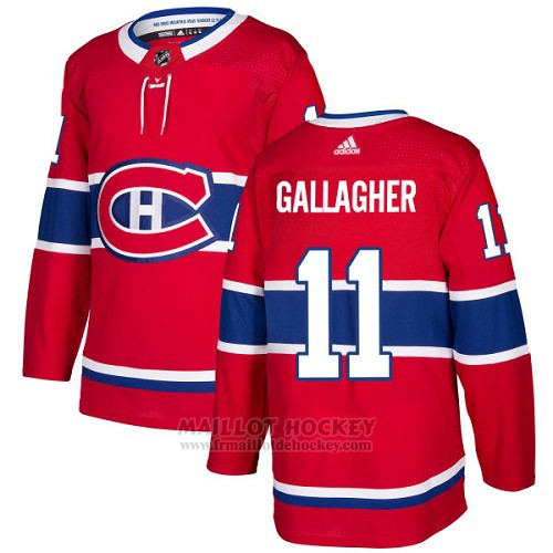 Maillot Enfant Montreal Canadiens 11 Brendan Gallagher Rouge Home Authentique Stitched