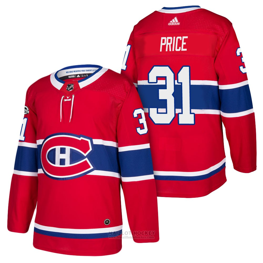 Maillot Enfant Montreal Canadiens 31 Carey Price Rouge 2018 Authentique Home