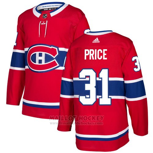 Maillot Enfant Montreal Canadiens 31 Carey Price Rouge Home Authentique Stitched