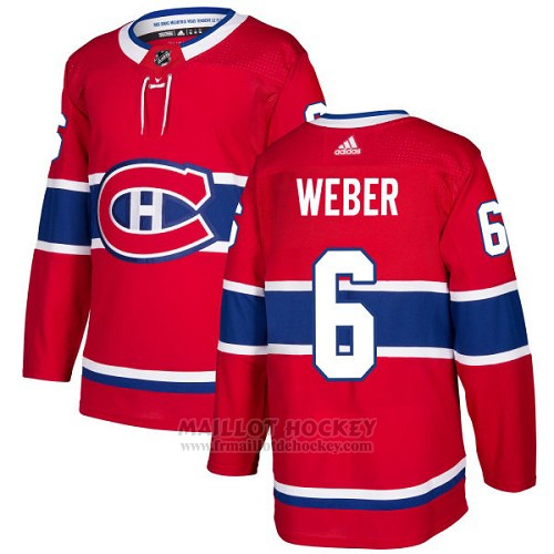 Maillot Enfant Montreal Canadiens 6 Shea Weber Rouge Home Authentique Stitched