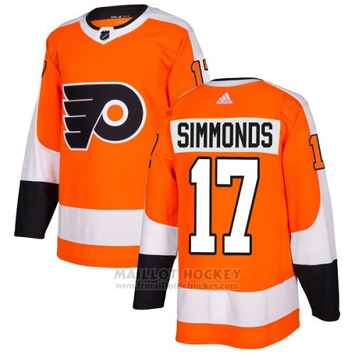 Maillot Enfant Philadelphia Flyers 17 Wayne Simmonds Orange Home Authentique Stitched