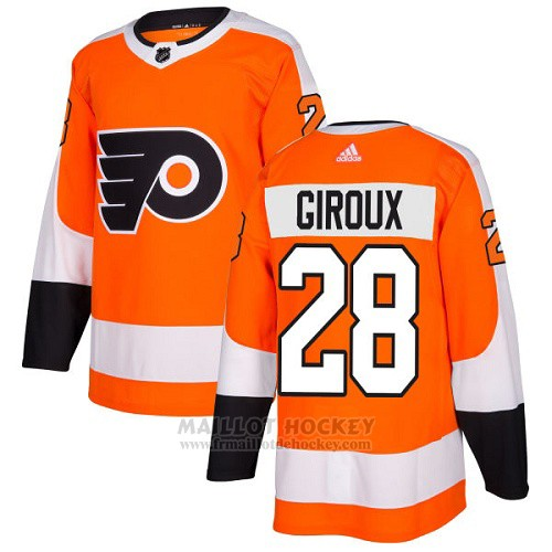 Maillot Enfant Philadelphia Flyers 28 Claude Giroux Orange Home Authentique Stitched