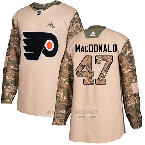 Maillot Enfant Philadelphia Flyers 47 Andrew Macdonald Camo Authentique 2017 Veterans Day Stitched