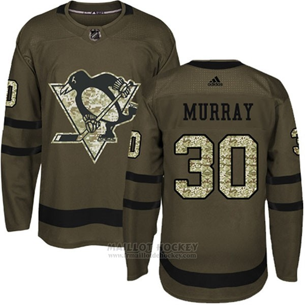 Maillot Enfant Penguins 30 Matt Murray Salute To Service 2018 Vert