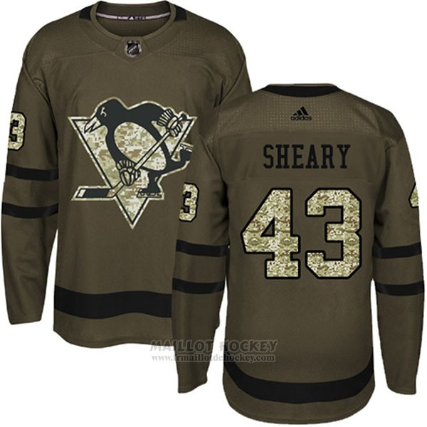 Maillot Enfant Penguins 43 Conor Sheary Salute To Service 2018 Vert