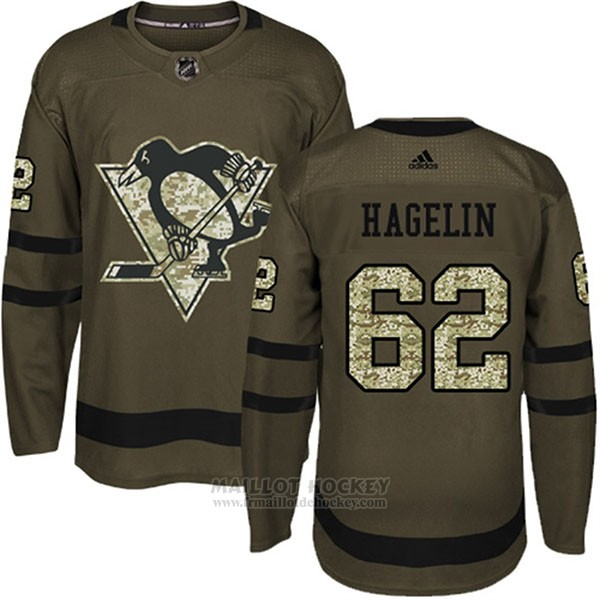 Maillot Enfant Penguins 62 Carl Hagelin Salute To Service 2018 Vert