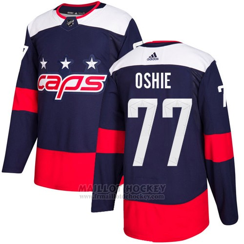 Maillot Enfant Washington Capitals 77 T.j. Oshie Bleu Authentique 2018 Stadium Series Stitched