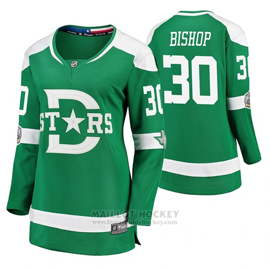 Maillot Femme Dallas Stars Ben Bishop Breakaway Joueur 2020 Winter Classic Vert
