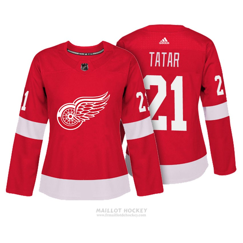 Maillot Femme Detroit Red Wings 21 Tomas Tatar Rouge Authentique Joueur