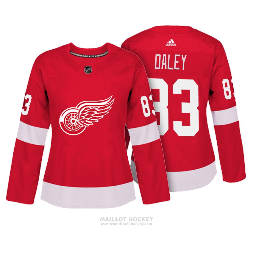 Maillot Femme Detroit Red Wings 33 Trevor Daley Rouge Authentique Joueur