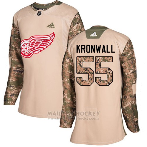 Maillot Femme Detroit Red Wings 55 Niklas Kronwall Camo Authentique 2017 Veterans Day Stitched