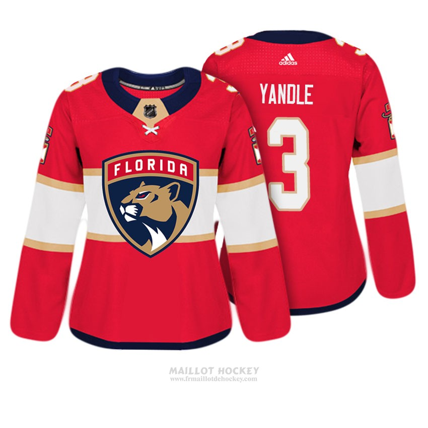 Maillot Femme Florida Panthers 3 Keith Yandle Rouge Authentique Joueur