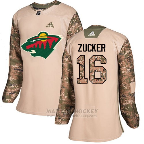 Maillot Femme Minnesota Wild 16 Jason Zucker Camo Authentique 2017 Veterans Day Stitched