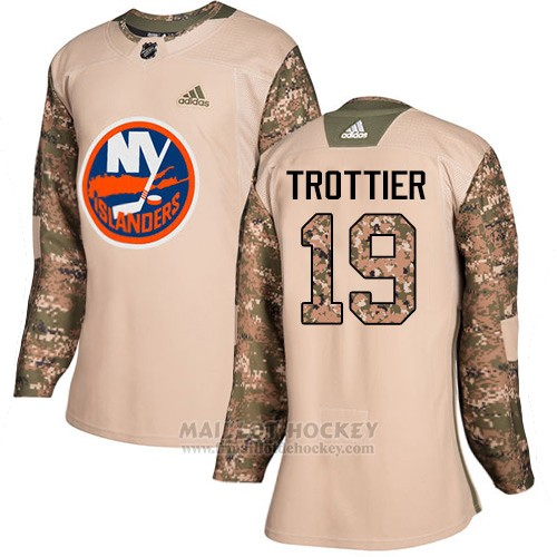 Maillot Femme New York Islanders 19 Bryan Trottier Camo Authentique 2017 Veterans Day Stitched