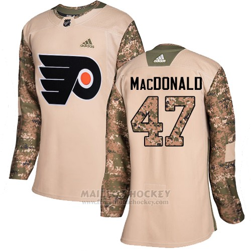 Maillot Femme Philadelphia Flyers 47 Andrew Macdonald Camo Authentique 2017 Veterans Day Stitched