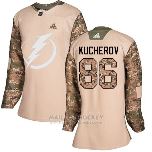 Maillot Femme Tampa Bay Lightning 86 Nikita Kucherov Camo Authentique 2017 Veterans Day Stitched