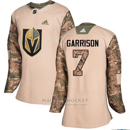 Maillot Femme Vegas Golden Knights 7 Jason Garrison Camo Authentique 2017 Veterans Day Stitched