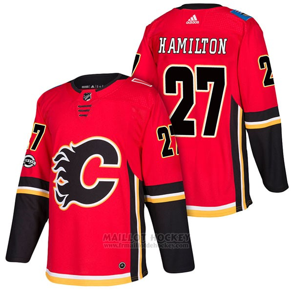 Maillot Authentique Calgary Flames 27 Dougie Hamilton Home 2018 Rouge