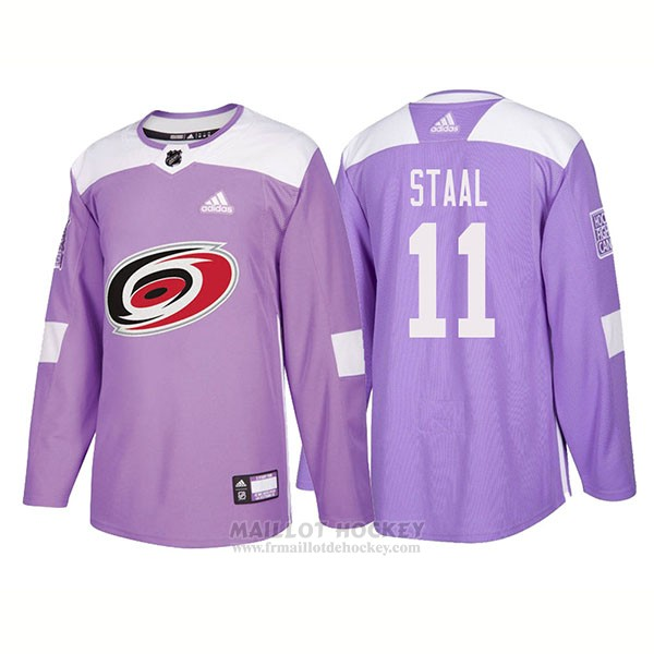 Maillot Authentique Carolina Hurricanes 11 Jordan Staal Hockey Fights Cancer 2018 Volet