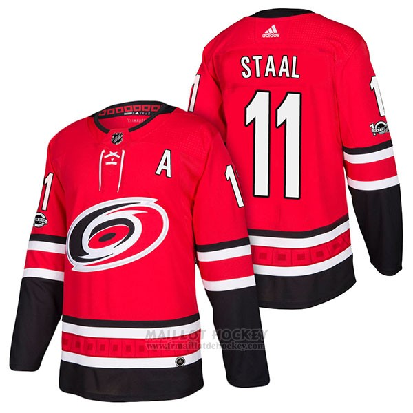 Maillot Authentique Carolina Hurricanes 11 Jordan Staal Home 2018 Rouge