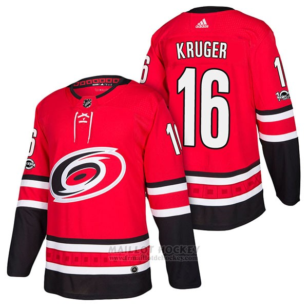 Maillot Authentique Carolina Hurricanes 16 Marcus Kruger Home 2018 Rouge