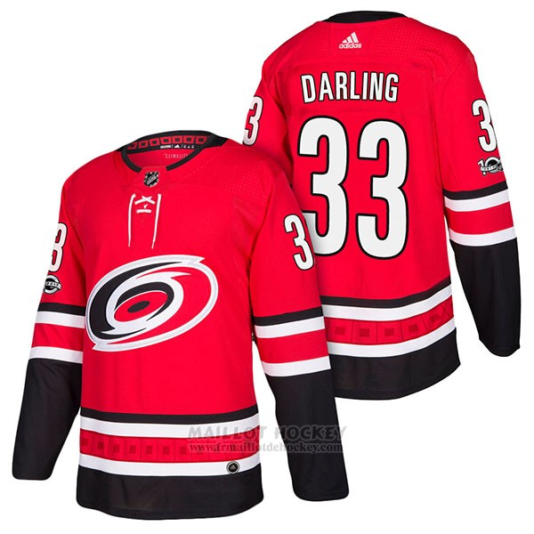 Maillot Authentique Carolina Hurricanes 33 Scott Darling Home 2018 Rouge