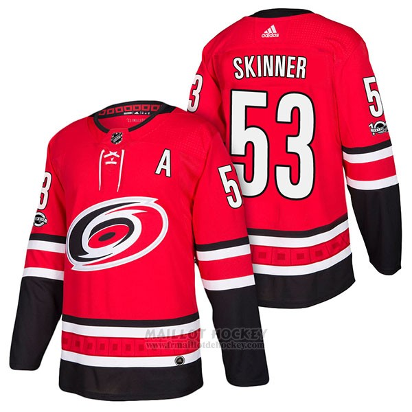 Maillot Authentique Carolina Hurricanes 53 Jeff Skinner Home 2018 Rouge