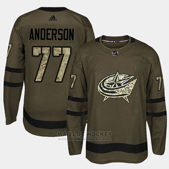 Maillot Columbus Blue Jackets Josh Anderson Camo Salute To Service