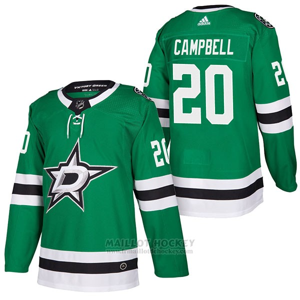 Maillot Authentique Dallas Stars 20 Brian Campbell Home 2018 Vert
