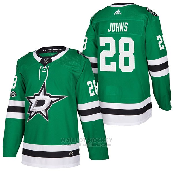 Maillot Authentique Dallas Stars 28 Stephen Johns Home 2018 Vert