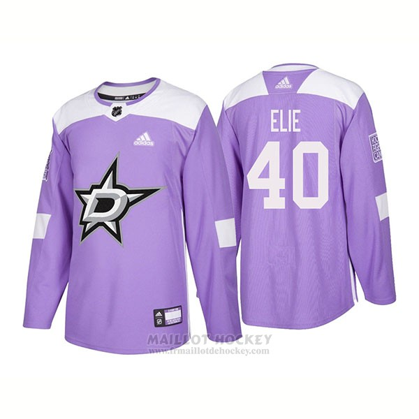 Maillot Authentique Dallas Stars 40 Remi Elie Hockey Fights Cancer 2018 Volet