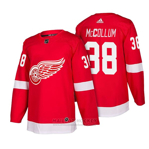Maillot Authentique Detroit Red Wings 38 Tom Mccollum Home 2018 Rouge